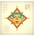 Monkey as symbol for year 2016 vector image