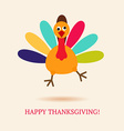 Funny turkey bird for Happy Thanksgivin vector image