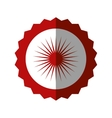 badge blank red circle design icon vector image