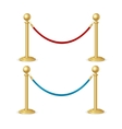 Barrier Rope Isolated vector image