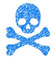 death grunge icon vector image