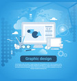 graphic design web development template banner vector image