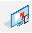 monitor and tablet isometric icon vector image