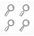 Magnifying Glass Line Icons vector image vector image