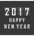 2017 happy new year flip vector image