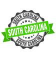 south carolina round ribbon seal vector image