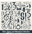 Various Retro Vintage Number and Typography vector image vector image