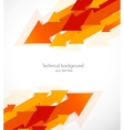 Abstract background with orange arrows vector image