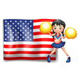 A cheerleader from the USA vector image
