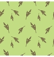 Seamless pattern with willow branches Nature vector image