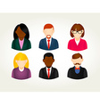 Social media people user icons set vector image vector image