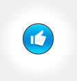 Thumbs Up Like icon vector image