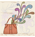 womans bag vector image vector image