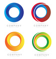 Corporate business colore logo circle icons vector image