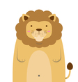 cute big fat lion vector image