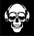 DJ Skulls vector image