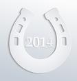 Horseshore 2014 white vector image