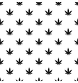 Marijuana leaf pattern simple style vector image