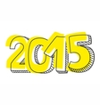 New Year 2015 hand drawn sign isolated on white vector image