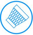 trash bin line icon vector image