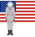 American spacesuit A7L vector image
