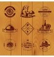 BBQ Vintage Logo Set vector image