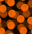 Basketball 3D seamless pattern Sports accessory vector image