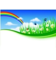 nature background with gras vector image