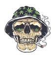 rastaman skull art vector image
