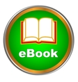 Green ebook icon vector image vector image