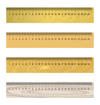 Wooden ruler vector image vector image