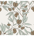 Olive seamless pattern can be used for wallpaper w vector image