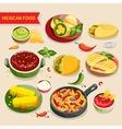 Mexican food set vector image