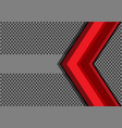 abstract red arrow on gray circle mesh vector image