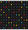 Black geometric seamless pattern vector image