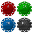 Cards Chips Poker with number vector image