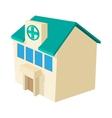 Hospital building icon cartoon style vector image