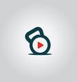 play music symbol logo vector image