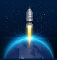 space rocket launch creative art vector image