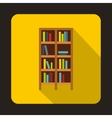 Bookcase icon in flat style vector image