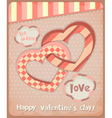 Retro Postcard to the Valentines Day vector image