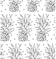 pineapple pattern simple of vector image