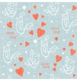 Valentine Day seamless with birds vector image