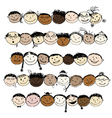 Set of funny peoples sketch for your design vector image