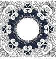 decorative frame with line floral ornament vector image