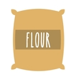 flour powder bag isolated icon design vector image