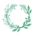 leaf around symbol vector image
