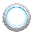 Porthole icon with silver metalic porthole and vector image
