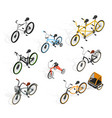 push cycles isometric set vector image