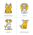 set of icons and signs in trendy linear style vector image